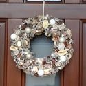 Barokk elegancia, Dekoráció, Otthon, lakberendezés, Ünnepi dekoráció, Karácsonyi, adventi apróságok, Virágkötés, Ezt az igazán különleges kopogtatót az a kicsi kis kiegészítő ihlette, amit rátettünk :-) Szalma al..., Meska