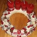 piros egyszerűség- adventi koszorú, Dekoráció, Otthon, lakberendezés, Ünnepi dekoráció, Karácsonyi, adventi apróságok, Virágkötés, Ezt az igazán különleges kopogtatót az a kicsi kis kiegészítő ihlette, amit rátettünk :-) Szalma al..., Meska