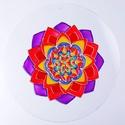 Életenergia mandala, Dekoráció, Képzőművészet, Kép, Festmény, Festészet, Üvegművészet, Ez a mandala segít neked visszahozni életedbe az aktivitást, a változást és az áramlásban való rész..., Meska