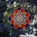 Életenergia mandala, Otthon & Lakás, Mandala, Dekoráció, Festészet, Üvegművészet, Ez a mandala segít neked visszahozni életedbe az aktivitást, a változást és az áramlásban való rész..., Meska