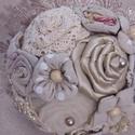 Vintage csokor, Esküvő, Ballagás, Esküvői csokor, Virágkötés, Romantikus stílust kedvelő hölgyeknek ajánlom! Kézzel készített rózsákból álló csokor bármilyen ünn..., Meska