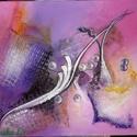 Pink fantáziák, Akrilfestmény, Dekoráció, Képzőművészet, Kép, Festmény, Festészet, Absztrakt akrilfestmény, 50x70 cm, feszített vászonra, Meska
