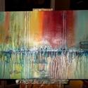 VÍZPART,AKT,ŐSZI AVAR,SZÍNKAVALKÁD, Dekoráció, Képzőművészet, Kép, Festmény, Festészet, 50X70cm méretű akril festmények feszített vásznon., Meska