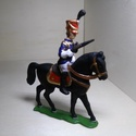 Ólomkatona pisztolyos lovas huszár, Dekoráció, Férfiaknak, Képzőművészet, Hagyományőrző ajándékok, Fémmegmunkálás, Kézzel készült pisztolyos lovas huszár, anyaga:ón-öntvény mérete: 7cm magas,6cm széles lovas színe:..., Meska