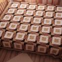 Gyémánt mintás ágytakaró, Otthon, lakberendezés, Lakástextil, Takaró, ágytakaró, Patchwork, foltvarrás, Varrás, Mérete 220 x 230 cm. Három réteg gépi steppeléssel van rögzítve. Az ára a méret függvényében változ..., Meska