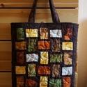 Színek játéka táska , Táska, Válltáska, oldaltáska, Szatyor, Vászonból és japán anyagból készült. Mérete 35x33x11cm Különböző színekben készült , Meska