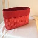 Piros táskarendező - pöttyös,cipzáros zsebbel, Minden fontos dolgot megtalálsz a táskádban,mer...