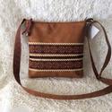 Himzett szalagos táska 2., Mindkét oldalán minőségi textibőrből készí...