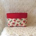 Piros virágos táskarendező,  Minden fontos dolgot megtalálsz a táskádban ,m...