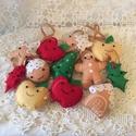 Karácsonyfadísz - Mosolygós szett 12 db-os, Barkácsfilcből készítettem ezeket a szépsége...