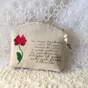 Hímzett virágos vintage neszeszer 1., Rusztikus vászonra,kézzel hímeztem a matyó min...