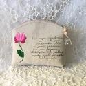 Hímzett virágos vintage neszeszer 2., Rusztikus vászonra,kézzel hímeztem a matyó min...