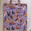 Bevásárlótáska, Táska, Otthon, lakberendezés, Szatyor, Bevásárlótáska lila-narancs  színekkel, vászon anyagból. Erős,praktikus darab. Béleletlen.  Kicsire ..., Meska