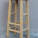 Bárszék - Állvány, Otthon & Lakás, Bútor, Szék & Fotel, Famegmunkálás, Anyaga borovi fenyő. A szék sima felületűre megmunkált, mustár színű tejfestékkel festett. Az ülőla..., Meska