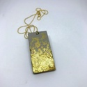 BETON nyaklánc #8, Ékszer, Nyaklánc, Betonból készült pirit ásvány és fémhatású festék felhasználásával. A természetes formákat igyekszem..., Meska