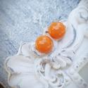 PÖTTY fülbevaló NARANCS, A képen látható rétegezett üvegből készült...