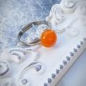 PÖTTY gyűrű NARANCS, A képen látható rétegezett üvegből készült...