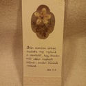 Igés könyvjelző virággal (1), Naptár, képeslap, album, Könyvjelző, Ajándékkísérő, Mérete: 18 x 7.3 cm. Bordázott nyers színű kartonok közé van beépítve az általam gyűjtött virágokból..., Meska