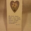Igés könyvjelző (2), Naptár, képeslap, album, Ajándékkísérő, Könyvjelző, Mérete: 18 x 7.3 cm. Bordázott nyers színű kartonok közé van beépítve az általam gyűjtött virágokból..., Meska