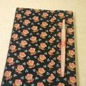 A/5 Kék virágos tollas napló (30), Naptár, képeslap, album, Jegyzetfüzet, napló, Mérete: 14 x 20 cm.200 oldalnyi halvány barackvirág színű, egyedi vonalazású lapokkal. Kézzel fűzött..., Meska