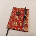 A/6 Bordó- arany, tollas határidő napló, Otthon & lakás, Naptár, képeslap, album, Naptár, Méretek: 10 x 14 cm. heti beosztású határidő napló, melynek az oldalait kézzel rajzoltam, terveztem...., Meska