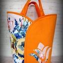 """Tulipános táska- """"Napsugaras aquarell"""" , Táska, Szatyor, Vigyázz! :) A tulipános táska """"függőséget"""" okoz! Népszerűsége talán abban rejlik, hogy a praktikum e..., Meska"""