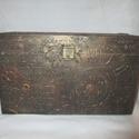 Steampunk doboz, Otthon, lakberendezés, Tárolóeszköz, Doboz, Festészet, Steampunk motívumos fa doboz,19,5 cm hosszú,7,8 cm széles,11,5 cm magas., Meska