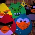Angry Birds álarc szett , Játék, Játékfigura, Angry birds gyermek álarc szett.  Igényesen, saját kezűleg készített álarc szett. Anyaga: dek..., Meska