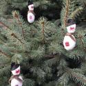 Hóember karácsonyfadísz, Dekoráció, Karácsonyi, adventi apróságok, Karácsonyi dekoráció, Karácsonyfadísz, Varrás, Kedves hóember alakú karácsonyfadíszek, melyek vidámságot, melegséget hoznak minden lakásba. Magass..., Meska