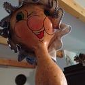 Nagymama tök figura, Dekoráció, Mindenmás, Otthon, lakberendezés, Dísz, Kedves nagymama karakter lopótökből. Mérete: kb 26 cm magas, 18-20 cm széles., Meska