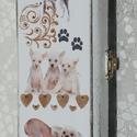 Kutyás doboz - kínai meztelen fajta, Állatfelszerelések, Ékszer, óra, Kutyafelszerelés, Ékszertartó, Egy praktikus kisebb doboz, amely helyet adhat nyakörvnek, póráznak, esetleg jutalom falatnak a sétá..., Meska
