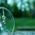 Ezüst fülbevaló, Ékszer, Fülbevaló, Ezüstszínű drótból készült, csigamintás fülbevaló. A fülbevaló 3,5 cm hosszú, az akaszt..., Meska