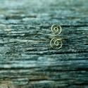 Bronz gyűrű, Ékszer, Gyűrű, Kacskaringós mintájú bronzszínű gyűrű. 58-as méret., Meska