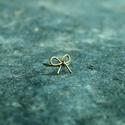 Bronz masnigyűrű, Ékszer, Gyűrű, Masnis mintájú bronzszínű gyűrű. 57-es méret., Meska