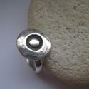 Avar kori gyűrű 925-ös ezüstből, Ékszer, Gyűrű, Az avar kollekcióm önálló darabja.  Egy avar kori motívum felhasználásával készített gyűrű 925-ös ez..., Meska
