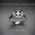 Liliom, liliomos gyűrű ezüstből, egy kockás , Ékszer, óra, Gyűrű, A liliomos kollekcióm új gyűrűje. Eddig a négy és a két kockából álló gyűrűfejűt készítettem csak. M..., Meska