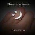 Egyedi ezüst smile, mosolygó, mosolygós gyűrű, Ékszer, Gyűrű, Ez a vidám gyűrű mindig megmosolyogtatja az embereket és a viselőjét is. :) Az ujjra húzva egy mosol..., Meska