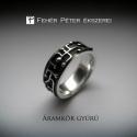 Ezüst áramkör gyűrű, Ékszer, Gyűrű, Ez a különleges ezüst gyűrű a múlt héten került ki a műhelyemből! Egy teljesen új alkotás és stílus..., Meska
