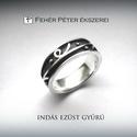 Különleges indás ezüst gyűrű, Ékszer, Gyűrű, Ennek a különleges ezüst gyűrűnek a felületét magasan kiemelkedő díszítés borítja. Apró golyócskák, ..., Meska