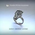 Ezüst örvény gyűrű, Ékszer, óra, Gyűrű, Valami a múltból fel-felmerül, évek koptatta halvány homály.  Fel-felcsillan egy elhagyott sors A je..., Meska