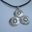 Rendelésre! Avar kori medál másolata 925-ös ezüstből, Ékszer, Medál, Egy avar kori motívum felhasználásával készített medál 925-ös magyar fémjeles ezüstből. A medál súl..., Meska