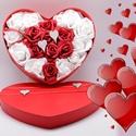 Szív alakú virágdoboz 23 cm, Művészet, Más művészeti ág, Virágkötés, Lepd meg kedvesedet, édesanyádat, lányodat vagy egy családtagodat ezzel a látványos és egyedi ajánd..., Meska