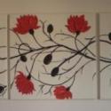 Lényem virágfüzére - színhangulat kép, Dekoráció, Képzőművészet, Festmény, Akril, Festészet, 3 részből álló, egyenként 70cm x70 cm kép,össz helyigénye: 220 x 70 cm  Vakkereten lévő eredeti vás..., Meska