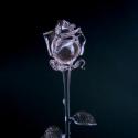Üvegrózsa, Képzőművészet, Esküvő, Dekoráció, Szobor, Látványosan, élethűen elkészített víztiszta üvegrózsa.  40cm , Meska