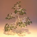 Üveg bonsai ..egyedi kérésre.., Képzőművészet, Üvegművészet, Szobrászat, Nincs két egyforma elkészített üveg bonsai fám. Szabad kézzel és sablonok nélkül készítem el.  Stíl..., Meska