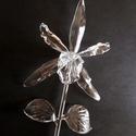 Üveg orchidea, Dekoráció, Képzőművészet, Otthon, lakberendezés, Dísz, Élethűen elkészített víztiszta üveg orchidea., Meska