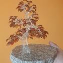 Üveg Bonsai, Képzőművészet, Szobor, Víztiszta és színes boroszilikát üveg felhasználásával készült, márvány talapzatra rögz..., Meska