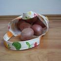 Gyümölcsmintás szatyorka piacoláshoz, Táska, Szatyor, Tarisznya, Varrás, Nem mindenki szeret folyton új és új nylonzacskóba pakolni, ezért készítettem gyümölcsmintás erős v..., Meska