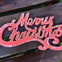 Karácsonyi felirat, Merry Christmas - hungarocell, nikecell, polisztirol- 7 betű, Otthon, lakberendezés, Dekoráció, Ünnepi dekoráció, Karácsonyi, adventi apróságok, Karácsonyi dekoráció, A felirat 50cm széles! Mindkét oldala pirosra festett!  Karácsonyi dekoráció!  Anyaga: hungarocell,n..., Meska