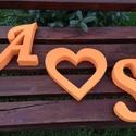 Esküvői dekoráció, monogram, szív, háttér -, asztal dekoráció hungarocell, polisztirol, xps, Esküvő, Dekoráció, Otthon, lakberendezés, Esküvői dekoráció, Esküvői dekoráció, monogram, szív, háttér -, asztal dekoráció hungarocell, polisztirol, xps.  A képe..., Meska